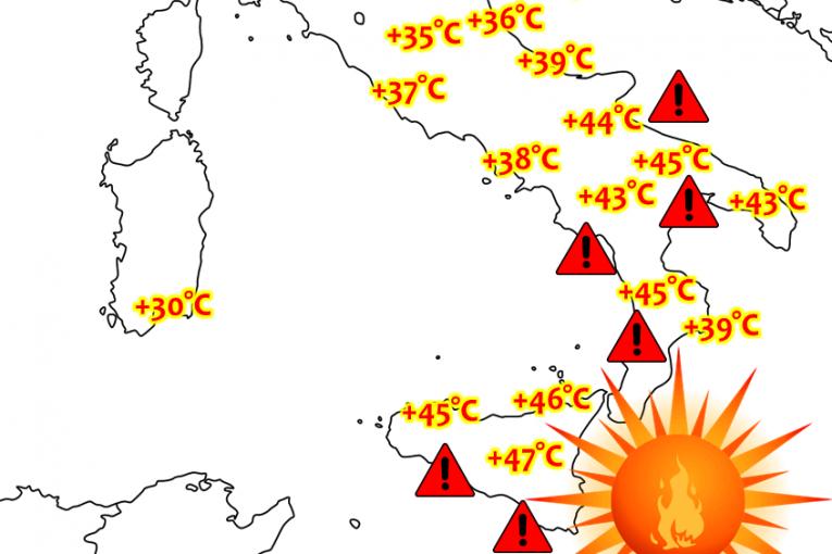 Рекордни горещини очакват Италия следващата седмица - до 47 градуса в Сицилия