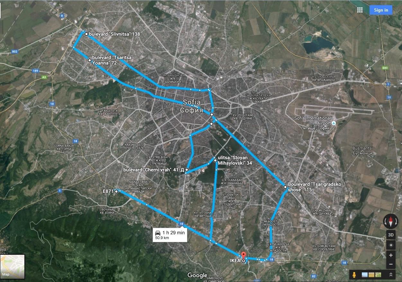 Обявиха маршрута на Масовото нощно каране (карта)