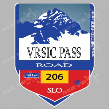 23 Vrisic Pass (Вършич проход) Стикер № 23, Серия Словения sl