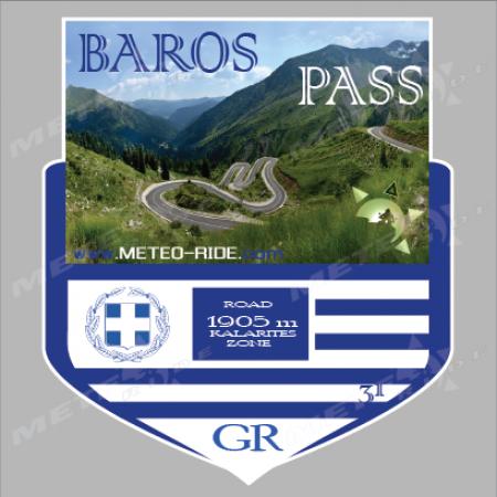 31 Baros Pass (Проходът Барос) Стикер №31, Серия Гърция sl