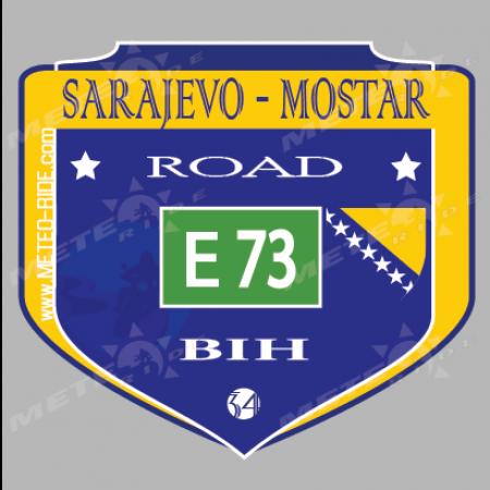 34 Saraevо-Mostar (Сараево-Мостар) Стикер №34, от Серия Босна и Херцеговина sl