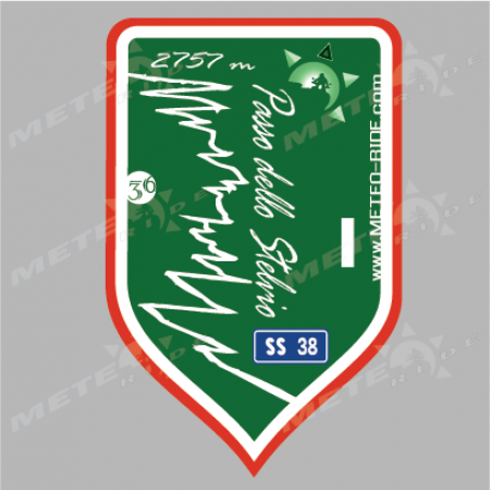 36 Stelvio Pass (Проходът Стелвио) Стикер №36, Серия Италия sl