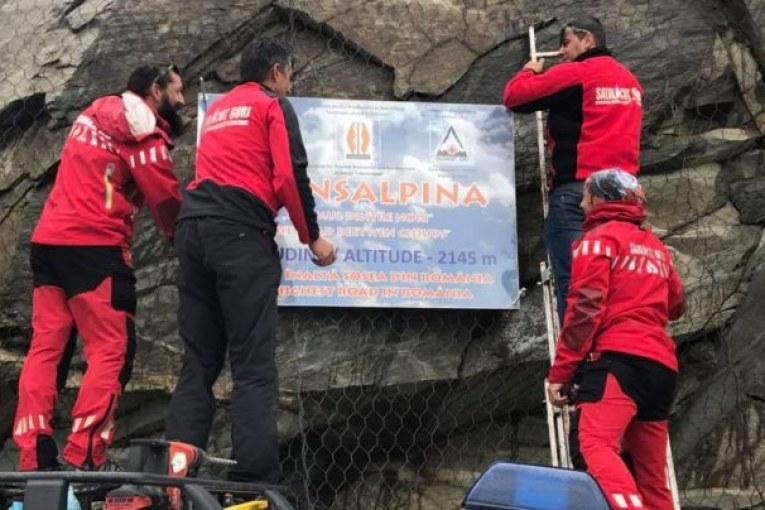 Поставиха плоча на най-високата точка на Трансалпина - 2145 м