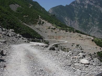 Пътят преди да се сложи асфалта