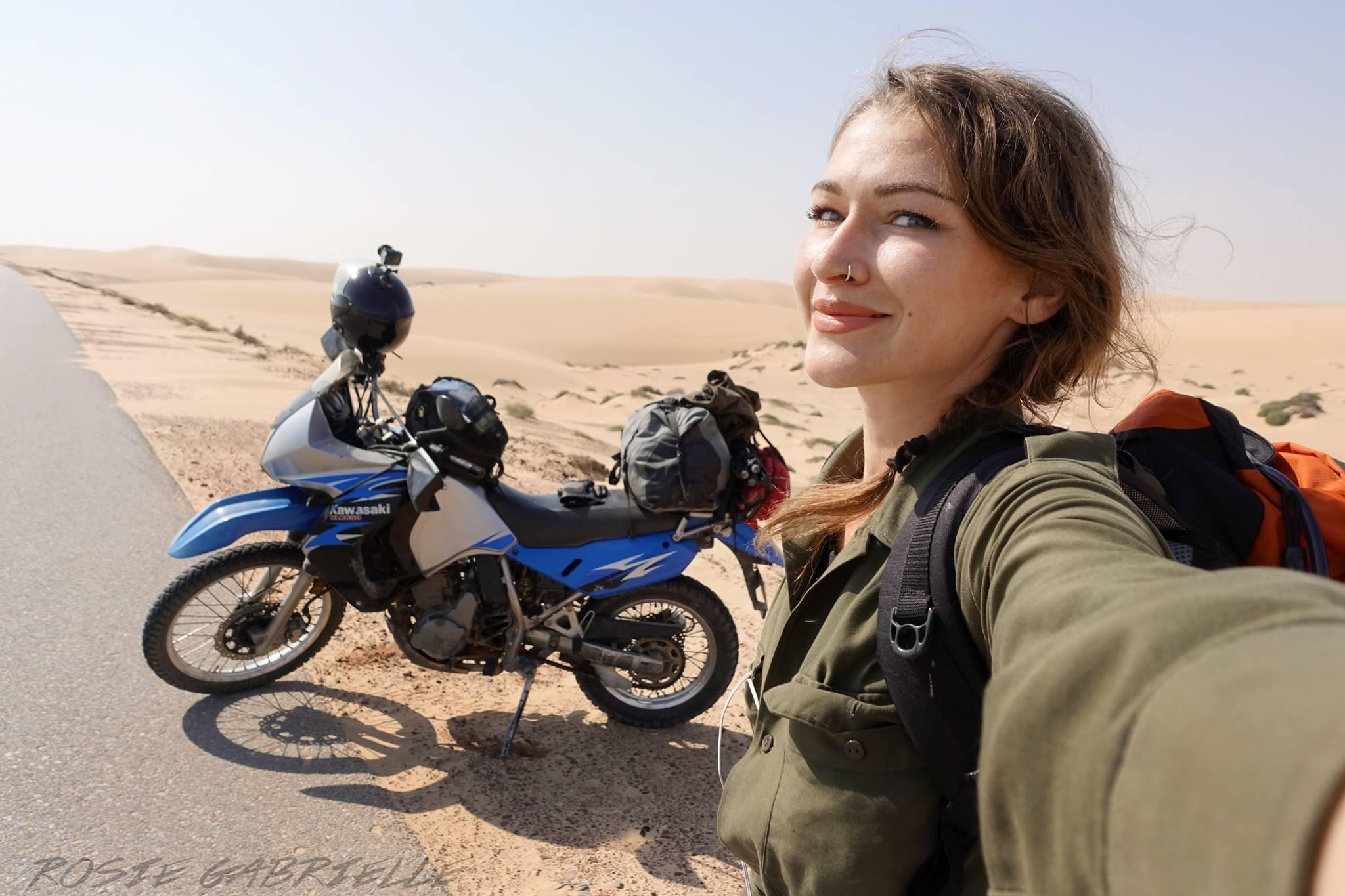 15 жени, които обикалят света с мотоциклет сами: 07 – Роузи Габриел