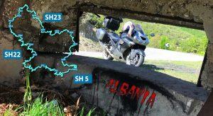 Шосета SH22 и SH23 - обиколка на езерото Фиерза