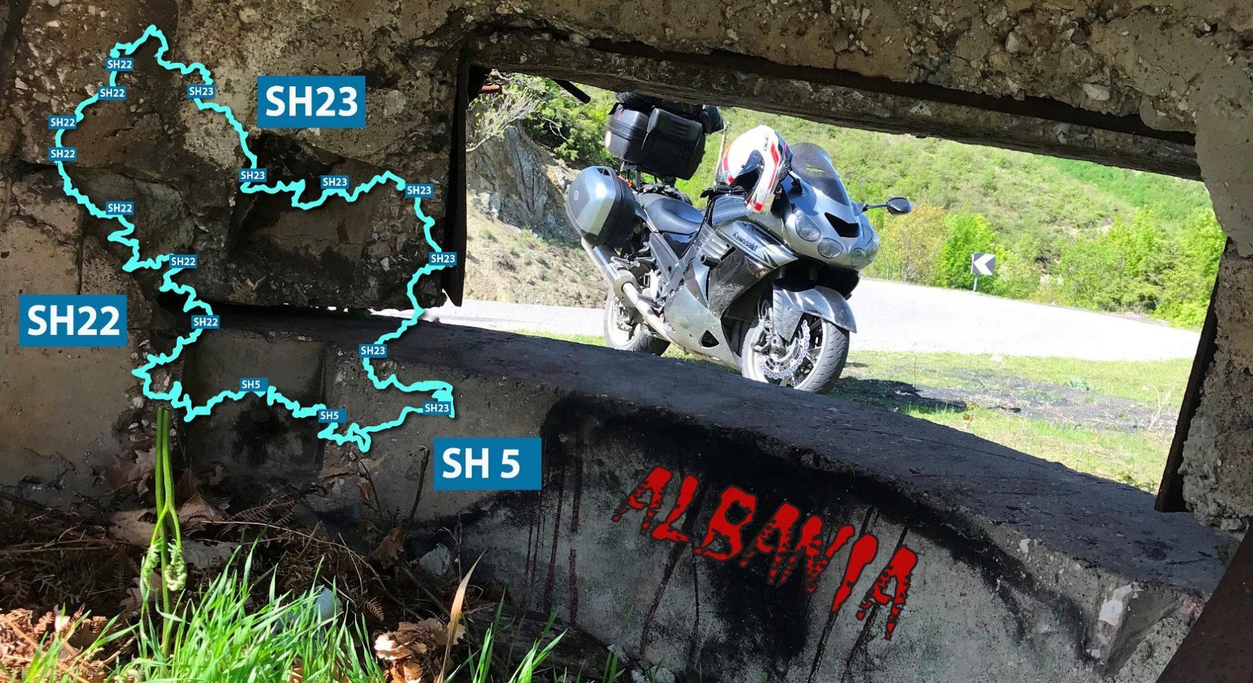 Шосета SH22 и SH23 - обиколката на езерото Фиерза