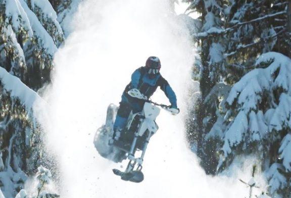 Дарън Береклот в изумително видео със зимна кросарка-снегоход (Видео)