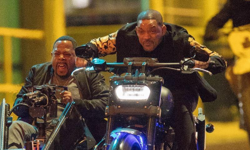 """Уил Смит и Мартин Лорънс с Harley-Davidson Fat Bob в """"Лоши момчета 3"""""""