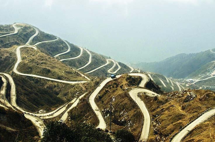 Пътят Зиг-заг или Bhul Bhulaiya - Едно от най-забележителните трасета по Пътя на коприната