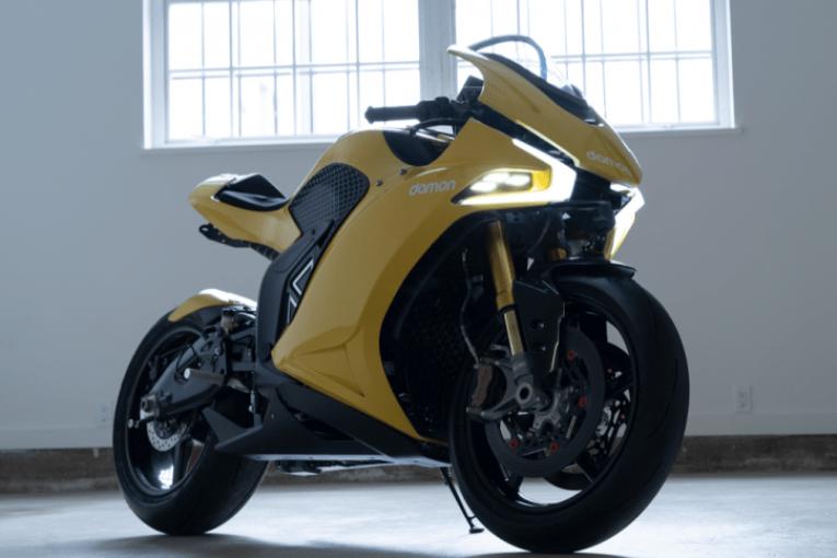 Damon Motorcycle и BlackBerry правят E-байк с пробег от 482 км и 200 к.с.