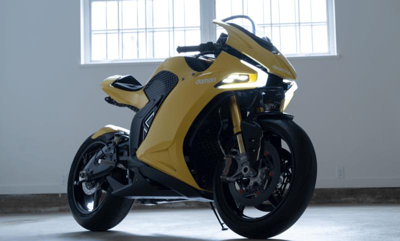 Damon Motorcycle и BlackBerry създават E-байк с изумителен пробег от 482 км и 200 к.с.