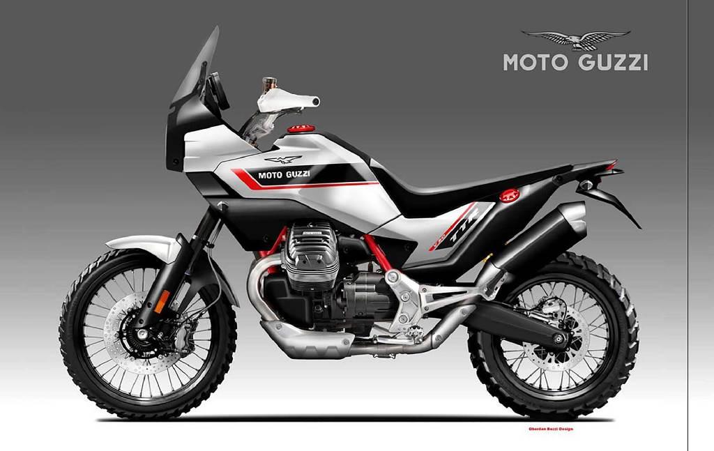 Нов концептуален Moto Guzzi V90 TTR от Обердан Беци