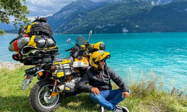 Photo of Португалец обикаля света с 125-кубиков Honda Monkey