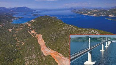 Хърватите отклоняват Ядранската магистрала с моста Пелешац преди Босна
