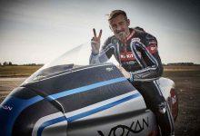 Макс Биаджи разбива рекорди за скорост с ел. мотоциклета Voxan