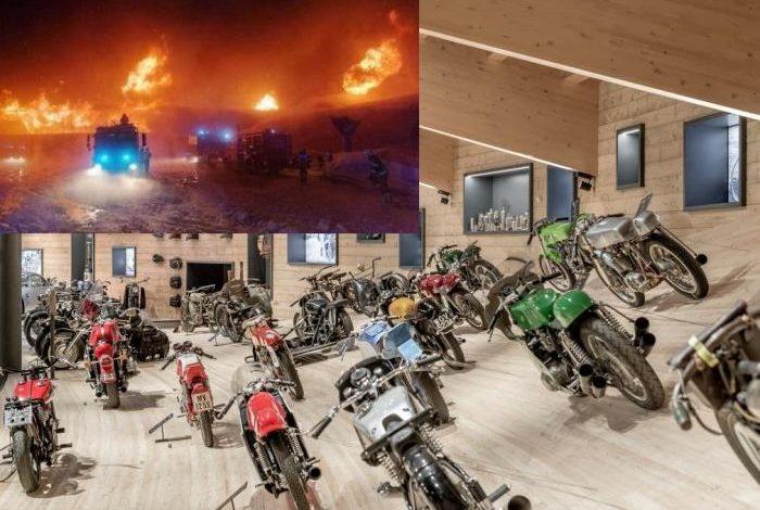Изгоряха над 200 ретро мотоциклета в най-високо разположения мото музей в света