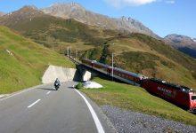 Проходът Обералп (Oberalppass 2044 м) - Мото железопътна романтика