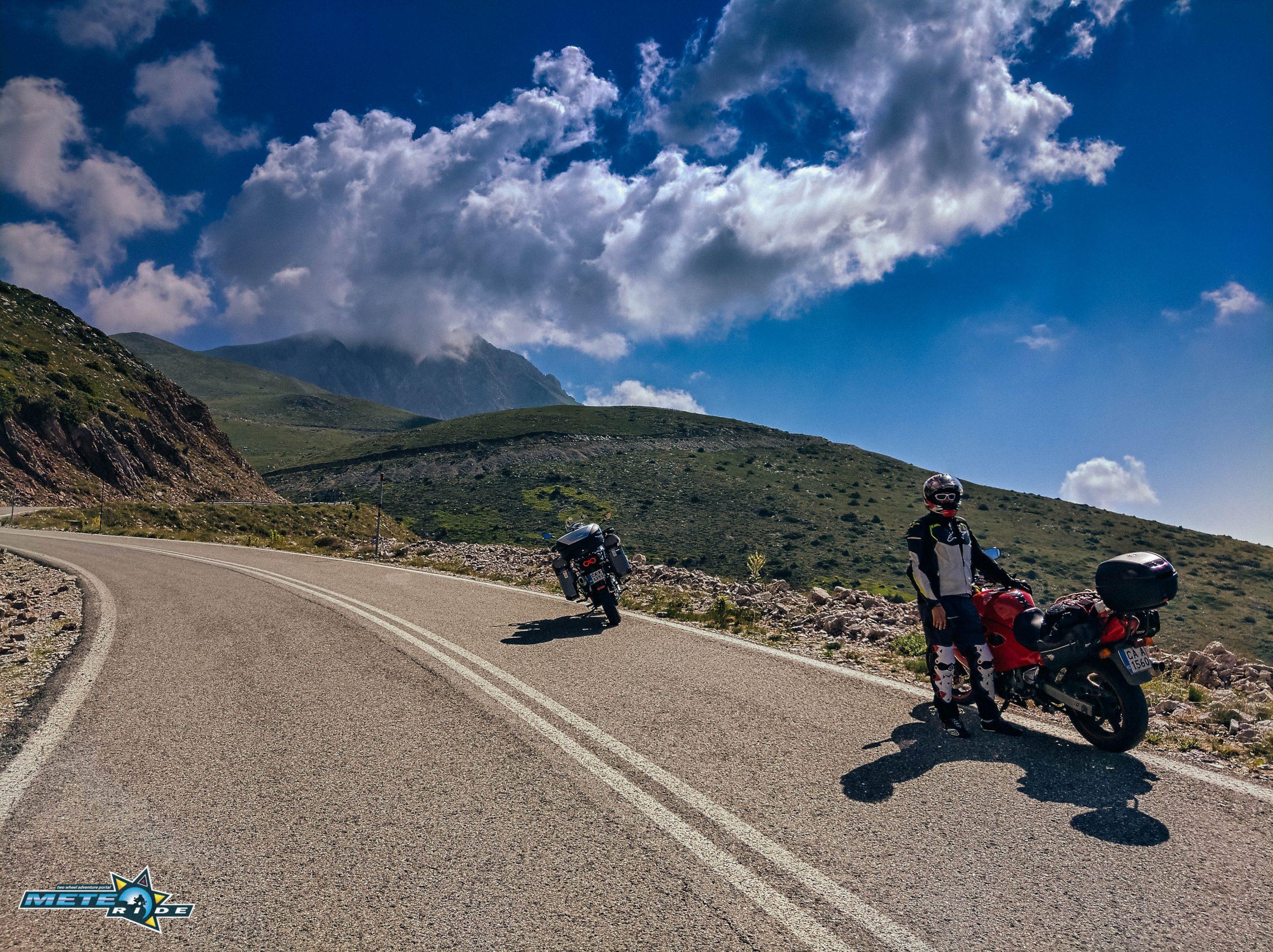 Проходът Велухи - мото първенецът на Евритания или гръцкият Трансфъгърашан Velouchi Pass Timfristos Road