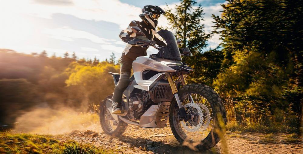 Концептуален Kawasaki Versys, или бъдещата система, която ще адаптира междуосието си към терена